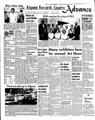 Kossuth County Advance from Algona, Iowa on June 10, 1965 · Page 1