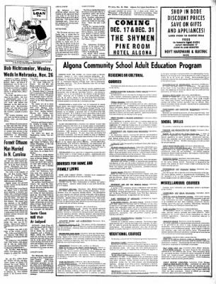 The Algona Upper Des Moines from Algona, Iowa on December 15, 1966 · Page 19