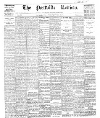 The Postville Review from Postville, Iowa on October 15, 1892 · Page 1