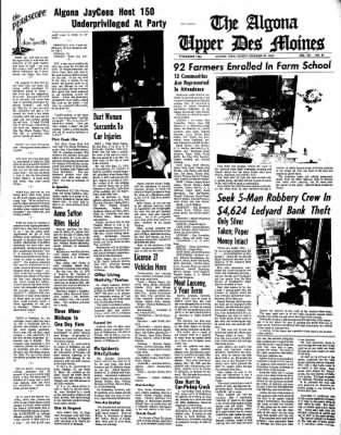 The Algona Upper Des Moines from Algona, Iowa on December 20, 1966 · Page 1