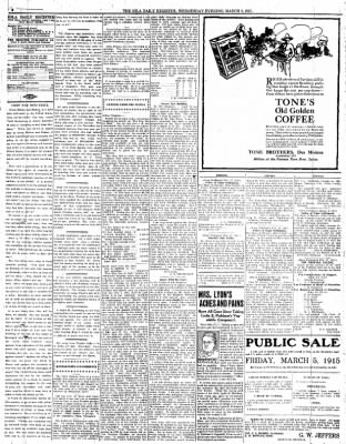 Iola Daily Register And Evening News from Iola, Kansas on March 3, 1915 · Page 4