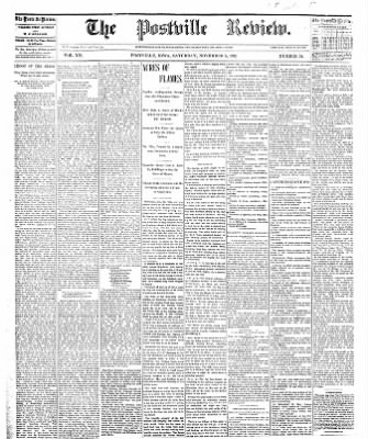 The Postville Review from Postville, Iowa on November 5, 1892 · Page 1