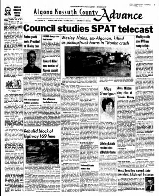 Kossuth County Advance from Algona, Iowa on June 14, 1965 · Page 1