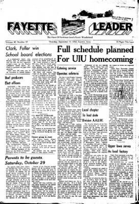 Fayette County Leader from Fayette, Iowa on September 13, 1962 · Page 1