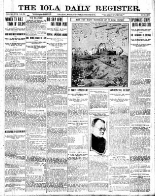 Iola Daily Register And Evening News from Iola, Kansas on March 6, 1915 · Page 1