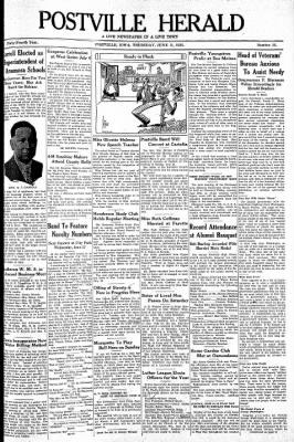 Postville Herald from Postville, Iowa on June 11, 1936 · Page 1