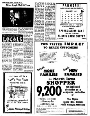 The Algona Upper Des Moines from Algona, Iowa on December 29, 1966 · Page 4