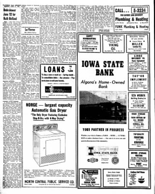 Kossuth County Advance from Algona, Iowa on June 21, 1965 · Page 6