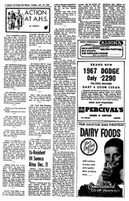 The Algona Upper Des Moines from Algona, Iowa on January 10, 1967 · Page 4