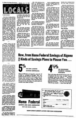 The Algona Upper Des Moines from Algona, Iowa on January 10, 1967 · Page 7