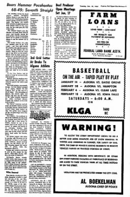 The Algona Upper Des Moines from Algona, Iowa on January 10, 1967 · Page 10