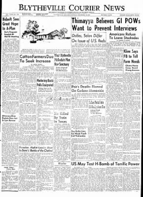 The Courier News from Blytheville, Arkansas on December 14, 1953 · Page 1
