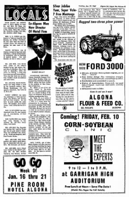 The Algona Upper Des Moines from Algona, Iowa on January 17, 1967 · Page 3