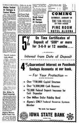 The Algona Upper Des Moines from Algona, Iowa on January 24, 1967 · Page 12