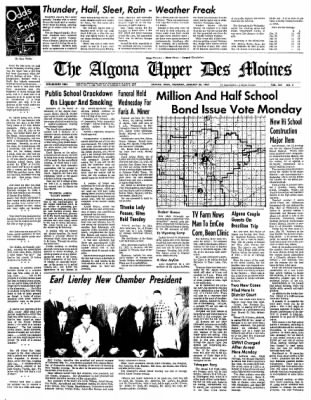 The Algona Upper Des Moines from Algona, Iowa on January 26, 1967 · Page 17