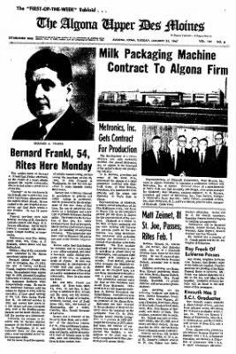 The Algona Upper Des Moines from Algona, Iowa on January 31, 1967 · Page 14