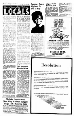 The Algona Upper Des Moines from Algona, Iowa on February 7, 1967 · Page 7