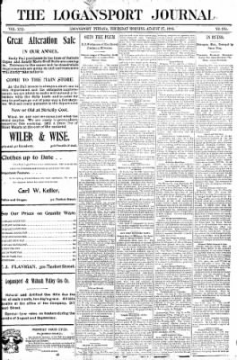 Logansport Pharos-Tribune from Logansport, Indiana on August 27, 1896 · Page 1