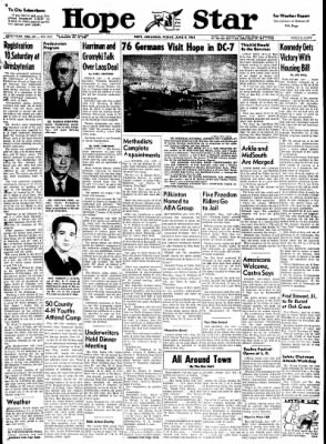 Hope Star from Hope, Arkansas on June 9, 1961 · Page 1