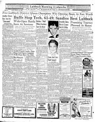 Lubbock Morning Avalanche from Lubbock, Texas on February 13, 1942 · Page 6