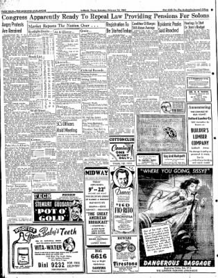 Lubbock Morning Avalanche from Lubbock, Texas on February 14, 1942 · Page 2