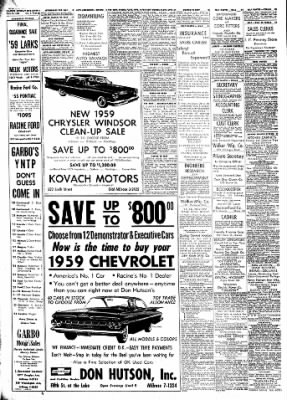 The Racine Journal-Times Sunday Bulletin from Racine, Wisconsin on July 19, 1959 · Page 36