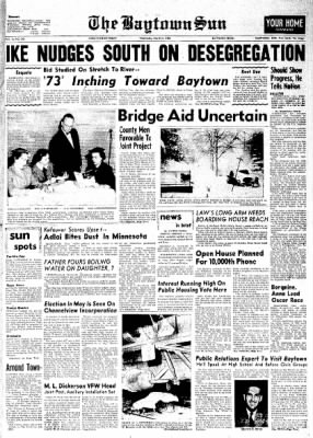 The Baytown Sun from Baytown, Texas on March 21, 1956 · Page 1