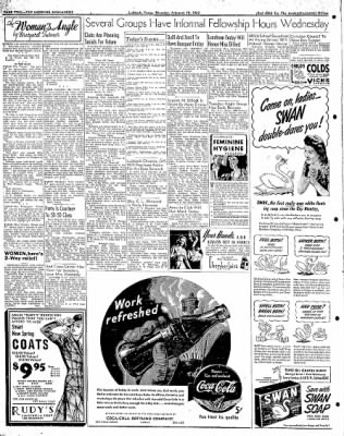 Lubbock Morning Avalanche from Lubbock, Texas on February 19, 1942 · Page 1