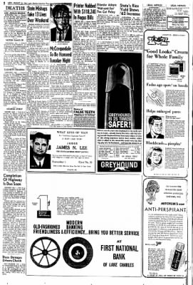 Lake Charles American-Press from Lake Charles, Louisiana on August 20, 1962 · Page 16