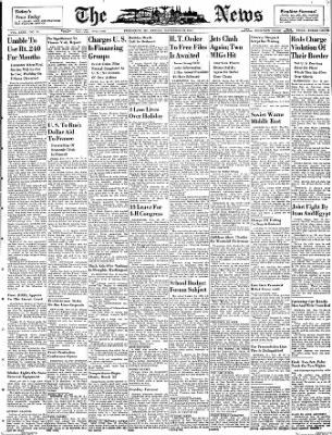 The News from Frederick, Maryland on November 23, 1951 · Page 1