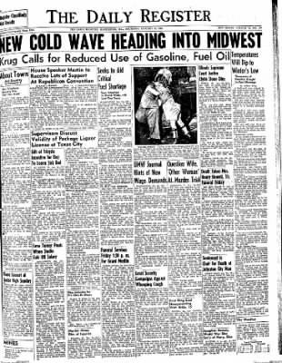 The Daily Register from Harrisburg, Illinois on January 15, 1948 · Page 1