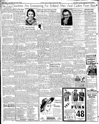 Lubbock Morning Avalanche from Lubbock, Texas on February 24, 1942 · Page 3