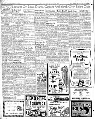 Lubbock Morning Avalanche from Lubbock, Texas on February 25, 1942 · Page 1