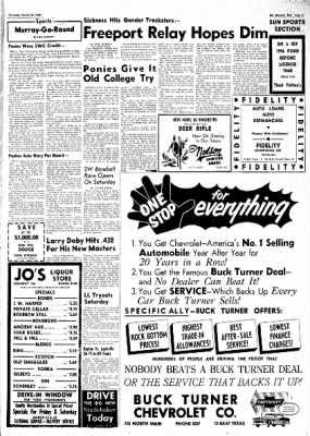 The Baytown Sun from Baytown, Texas on March 22, 1956 · Page 33