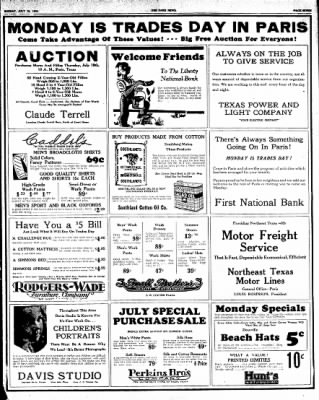 The Paris News from Paris, Texas on July 15, 1934 · Page 7