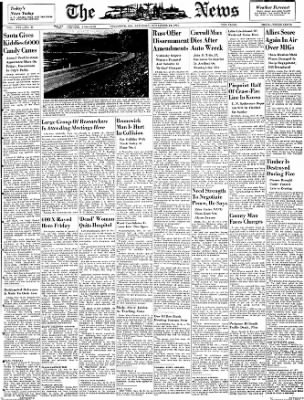 The News from Frederick, Maryland on November 24, 1951 · Page 1