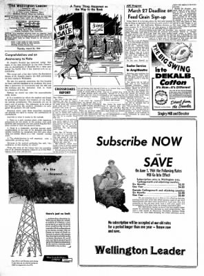 The Wellington Leader from Wellington, Texas on March 26, 1964 · Page 6