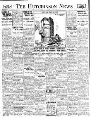 The Hutchinson News from Hutchinson, Kansas on November 19, 1924 · Page 1