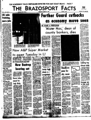The Brazosport Facts from Freeport, Texas on March 9, 1964 · Page 1