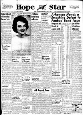 Hope Star from Hope, Arkansas on June 28, 1961 · Page 1