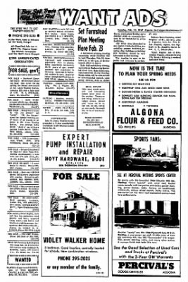 The Algona Upper Des Moines from Algona, Iowa on February 14, 1967 · Page 16