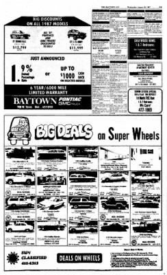 The Baytown Sun from Baytown, Texas on August 26, 1987 · Page 21