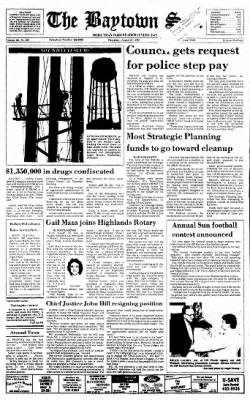 The Baytown Sun from Baytown, Texas on August 27, 1987 · Page 1