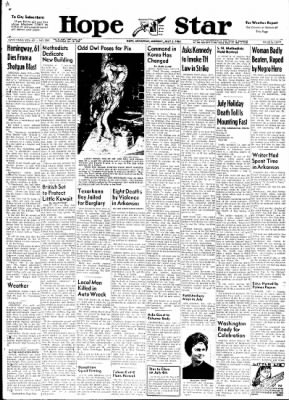 Hope Star from Hope, Arkansas on July 3, 1961 · Page 1