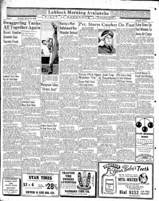 Lubbock Morning Avalanche from Lubbock, Texas on March 14, 1942 · Page 3