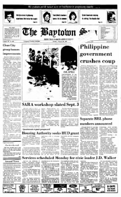 The Baytown Sun from Baytown, Texas on August 30, 1987 · Page 1