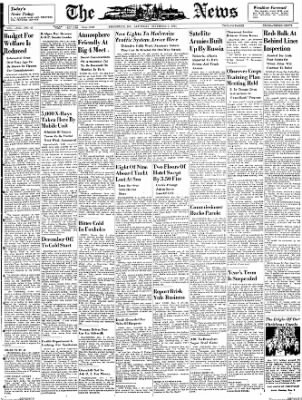 The News from Frederick, Maryland on December 1, 1951 · Page 1