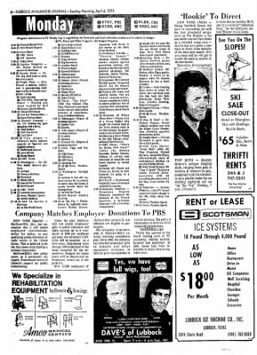Lubbock Avalanche-Journal from Lubbock, Texas on April 6, 1975 · Page 45