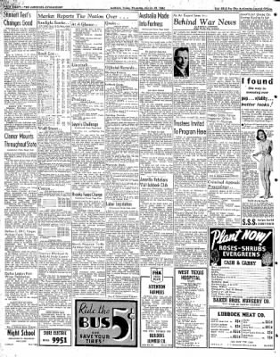 Lubbock Morning Avalanche from Lubbock, Texas on March 19, 1942 · Page 4