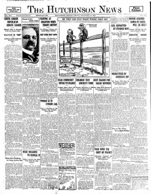 The Hutchinson News from Hutchinson, Kansas on November 28, 1924 · Page 1